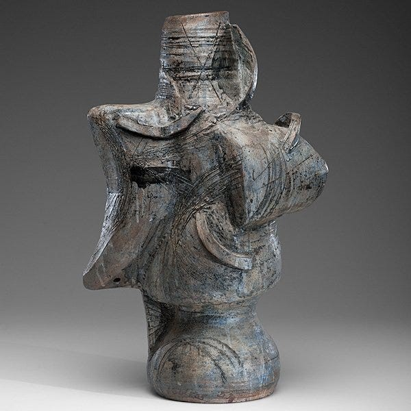 Peter Voulkos, untitled, 1957. Courtesy of Cowan's Auctions.