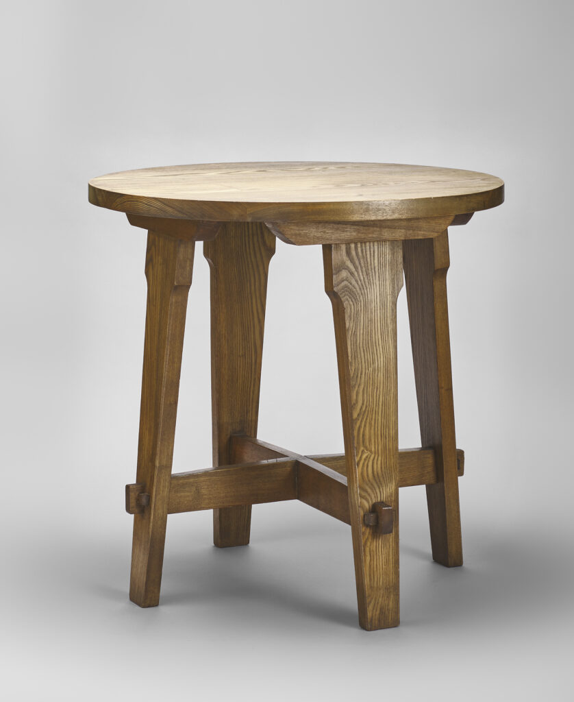Table (no. 411), Ash, United Crafts , 1900-02. Gift of Gregg and Monique Seibert.