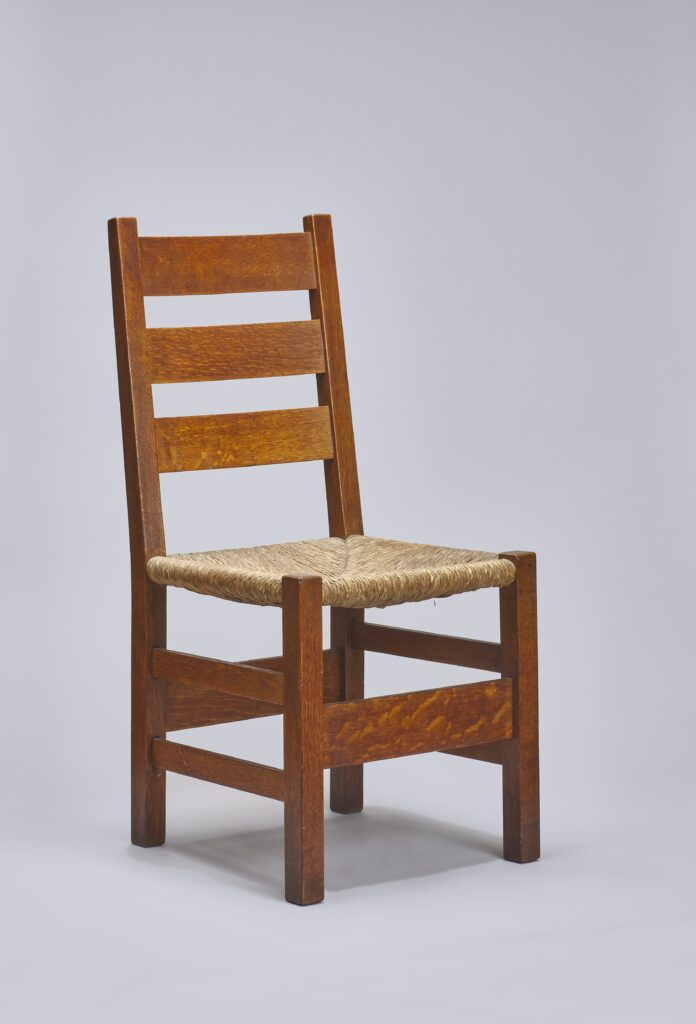 Dining Chair (no. 1301), Oak, rush, United Crafts, ca. 1900-04
